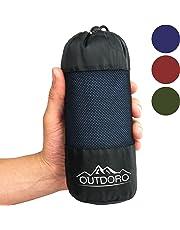 Saco de dormir Outdoro compacto y ultraligero, solo 350 g, fabricado en algodón puro