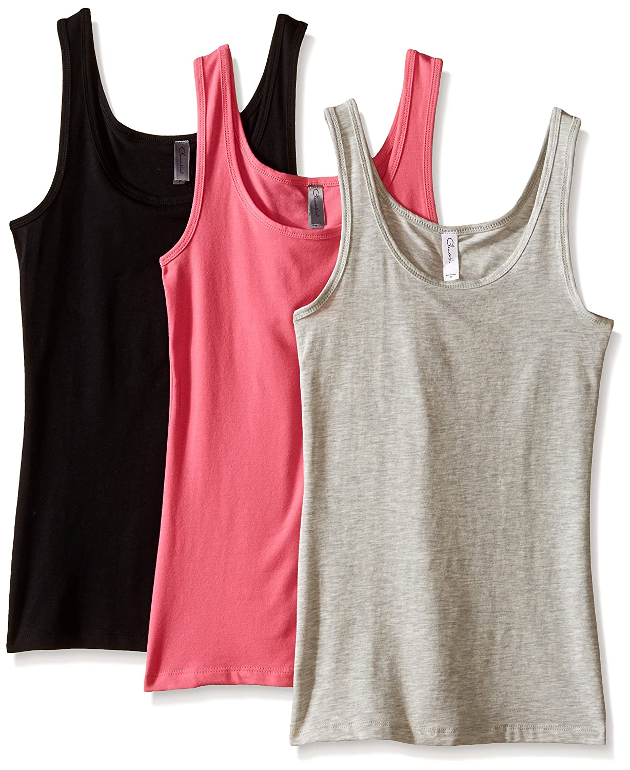 Clementine Women's 2x1 Rib Tank Top (Pack of 3) Clementine Womens Child Code 3-CLM3533