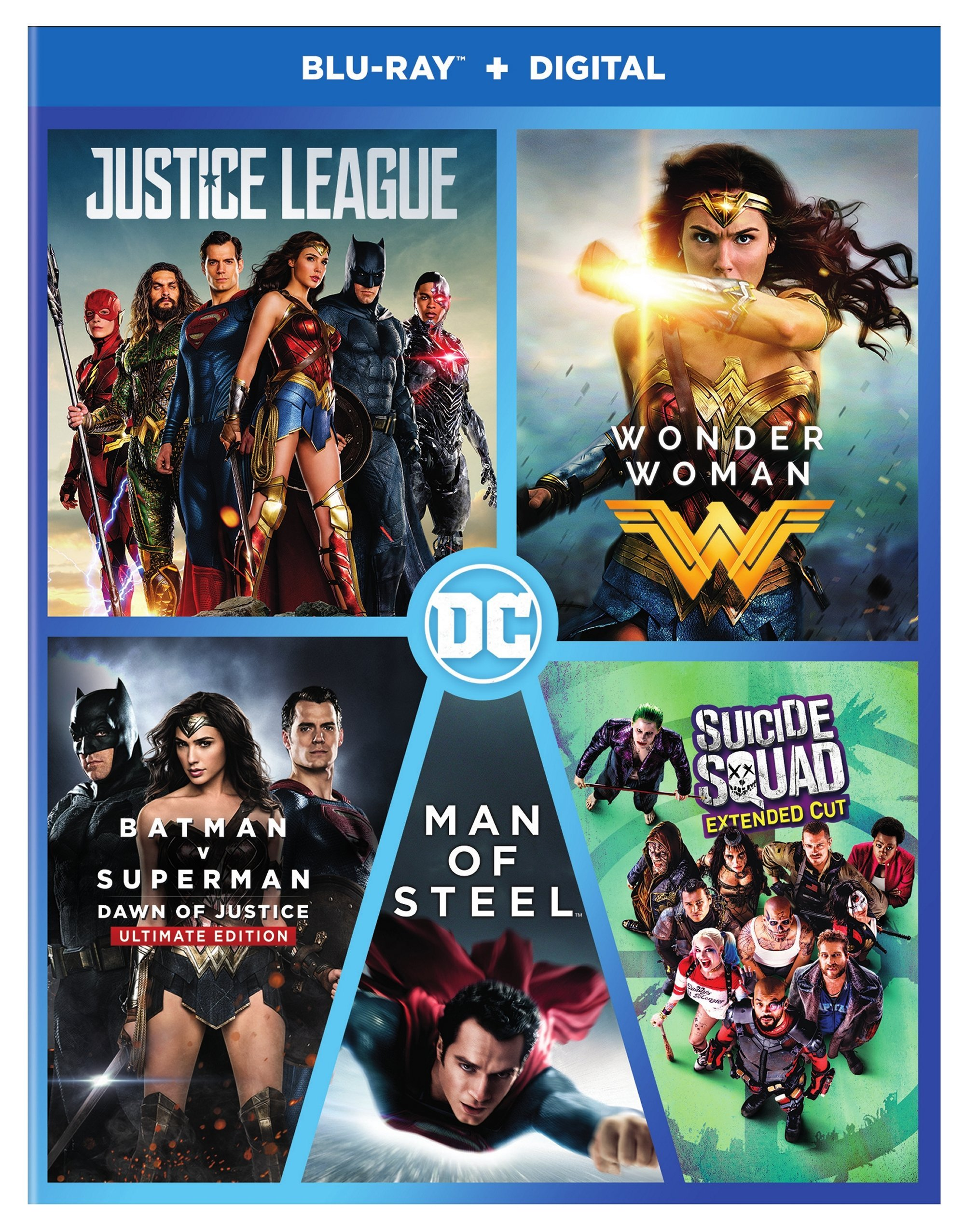 Blu-ray : Dc 5-film Collection (Boxed Set, Slipsleeve Packaging, 5PC)