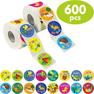 "600 Animal Teacher Reward Encouragement Motivational Sticker in 16 Designs (Expanded Version with 1.5"" Diameter)."