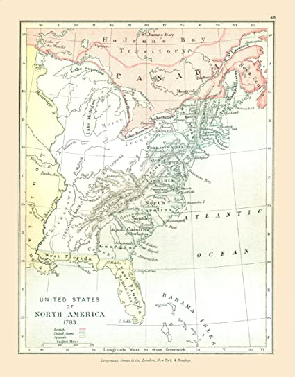 Old North America Map.Amazon Com Old North America Map North America In 1783 Gardiner