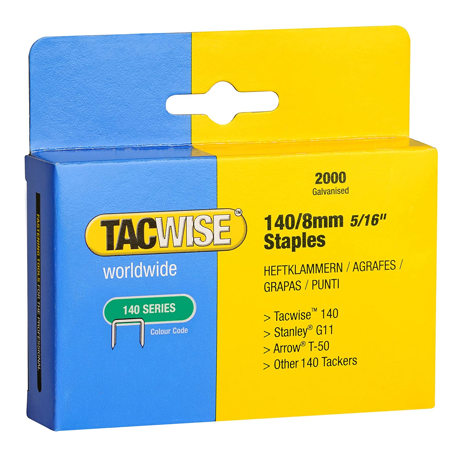 Tacwise Pack de 2000 agrafes Type 140 8 mm 0346