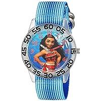 Girls' Moana Analog-Quartz Watch with Nylon Strap, Blue, 16 (Model: WDS000043)