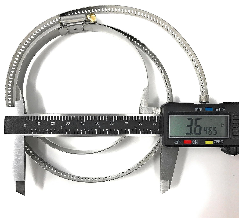 3 PACK Universal Stainless Steel Muffler Converter Strap 32 Long