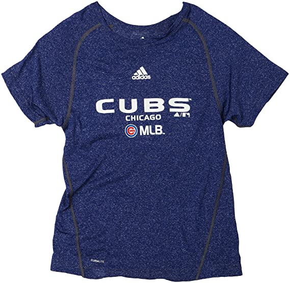 super popular b438f c01e5 Amazon.com : MLB Boys' Chicago Cubs Short Sleeve Heathered ...
