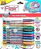 (1, Multi Colours) - Xtra Sparkle Glitter Gel 10 Colours Xtra Sparkle Gel Pen by Flair