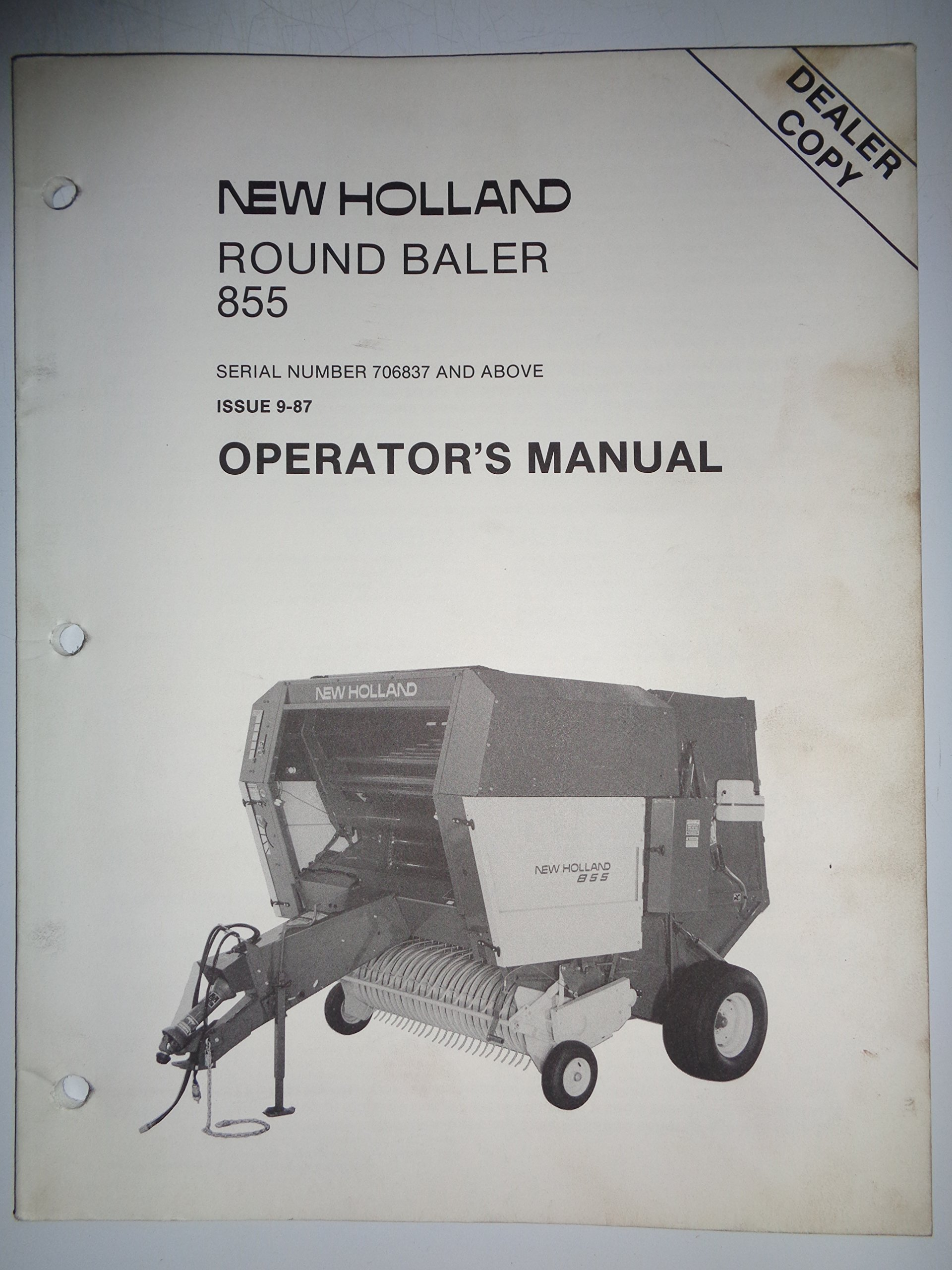 new holland 855 round baler s n 706837 and above operators owners rh amazon com NH Baler Models 1086 Pulling New Holland Round Baler