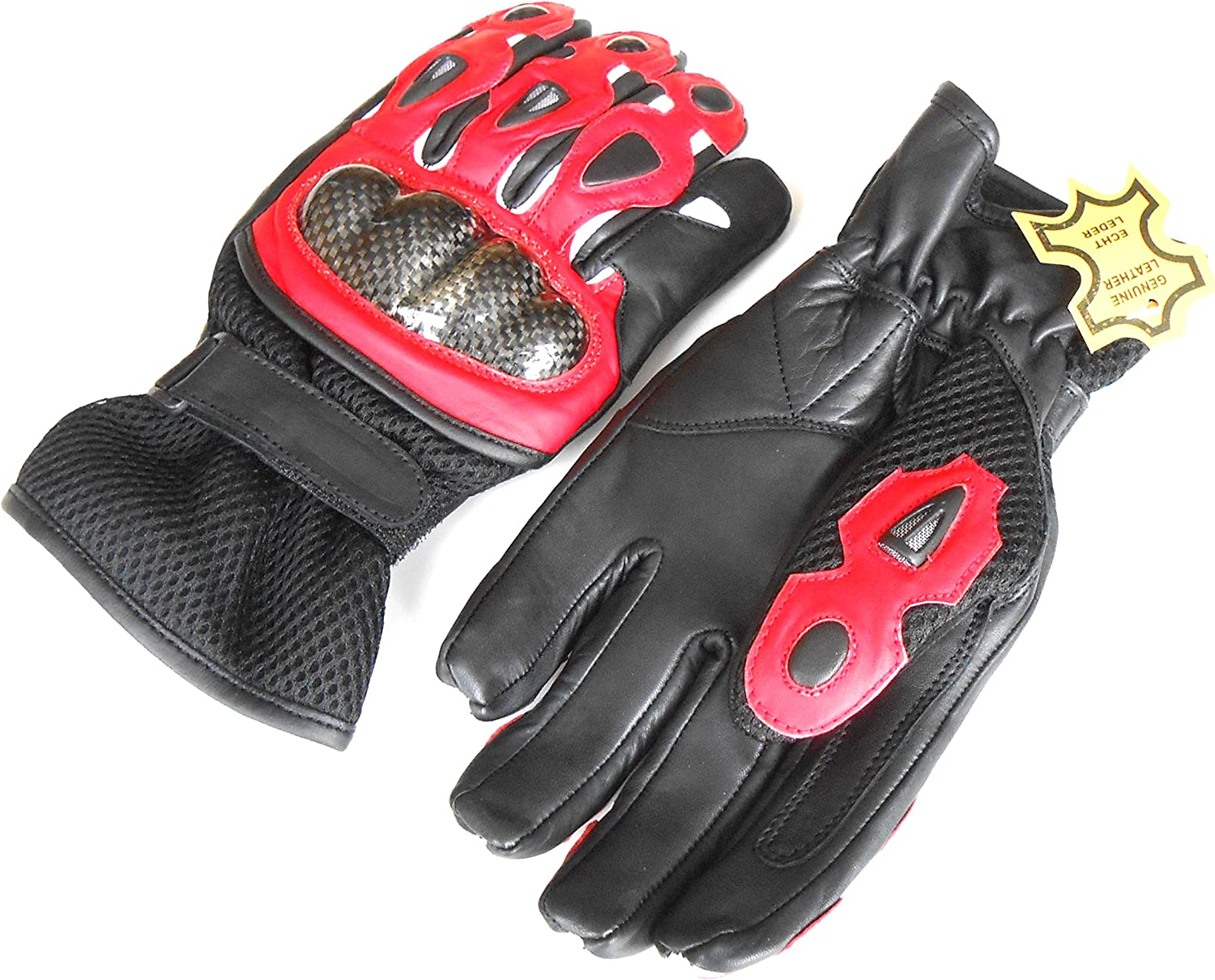 Ultimate Pro-biker Cow Analine Leather Sports Motorcycle Motorbike Full Finger Summer Mountain Bicycle Riding Sports Glove with Knuckle Protection for men/'s safety 9001