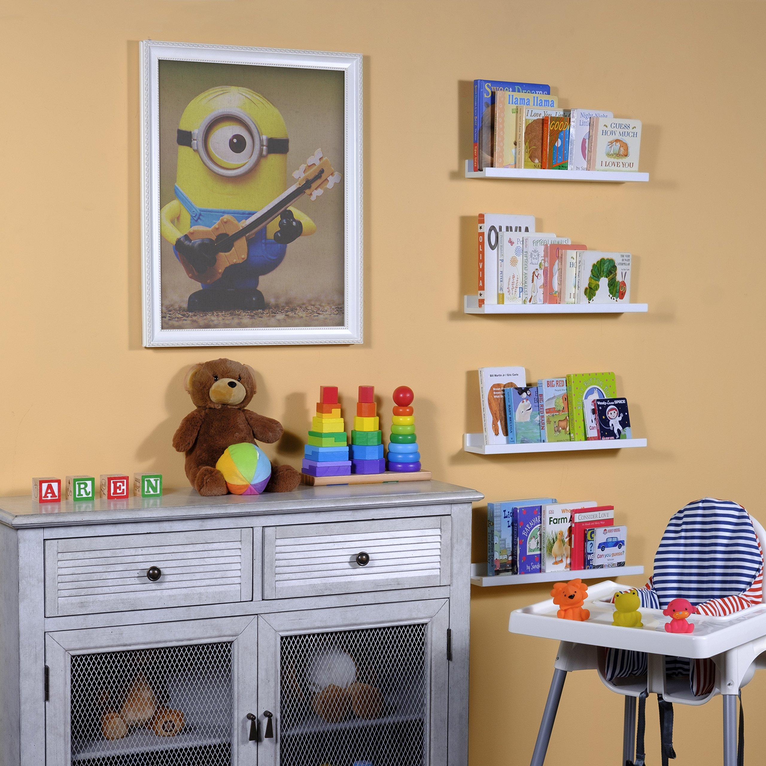 Wallniture Denver Wall Mounted Floating Shelves For Nursery Decor