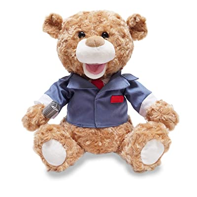 Cuddle Barn Animated Singing Plush Bear 12 inches Tony Broadway New York: Toys & Games