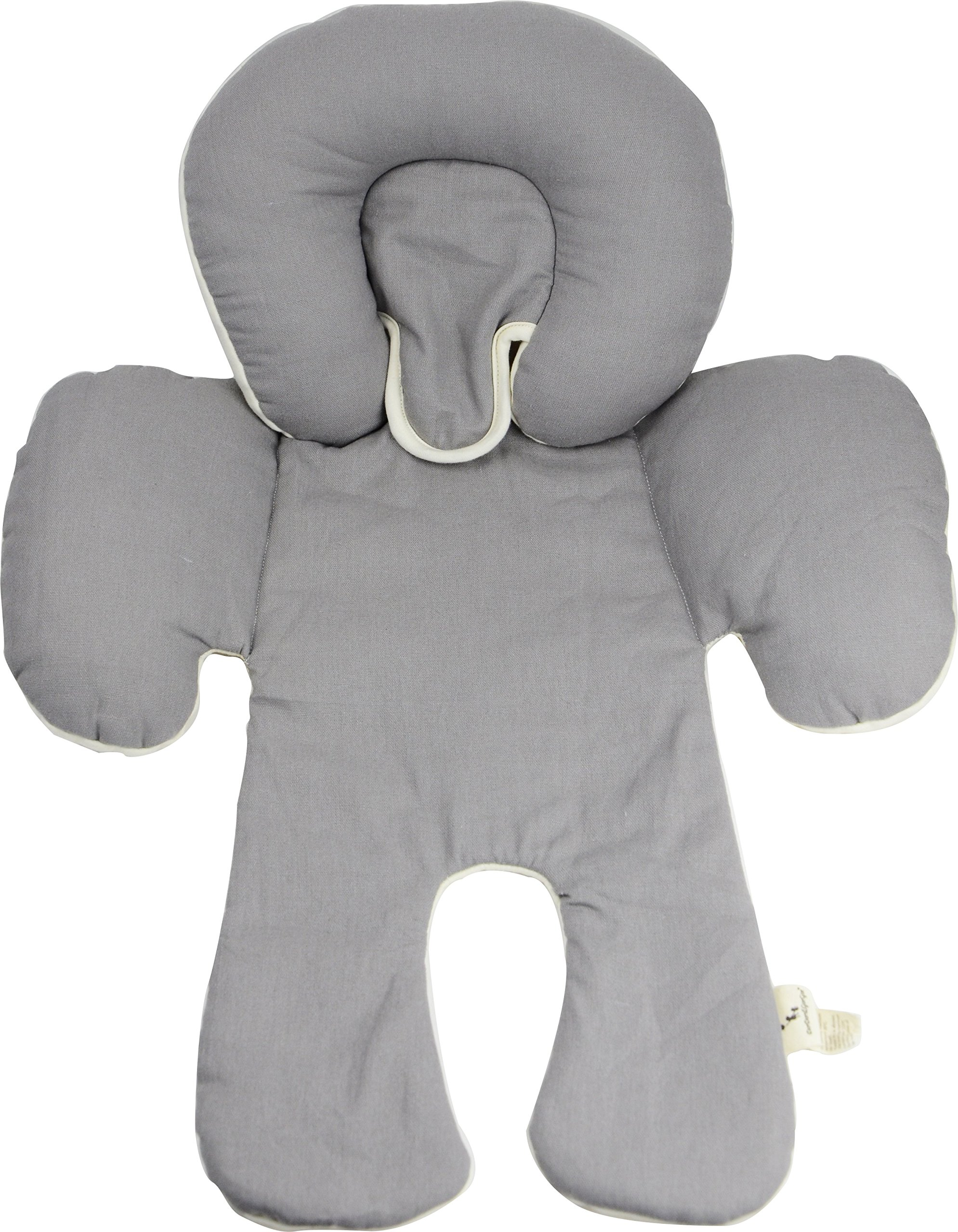 DorDor & GorGor Reversible Infant Head Support, Organic Cotton (Gray)