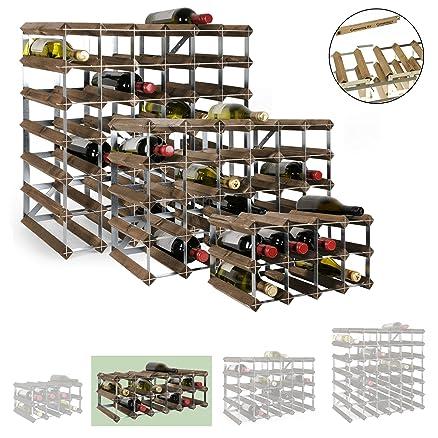 Scaffali in legno per vino trendy cantinetta vino provinalia in legno per bottiglie with - Cantinetta vini ikea ...