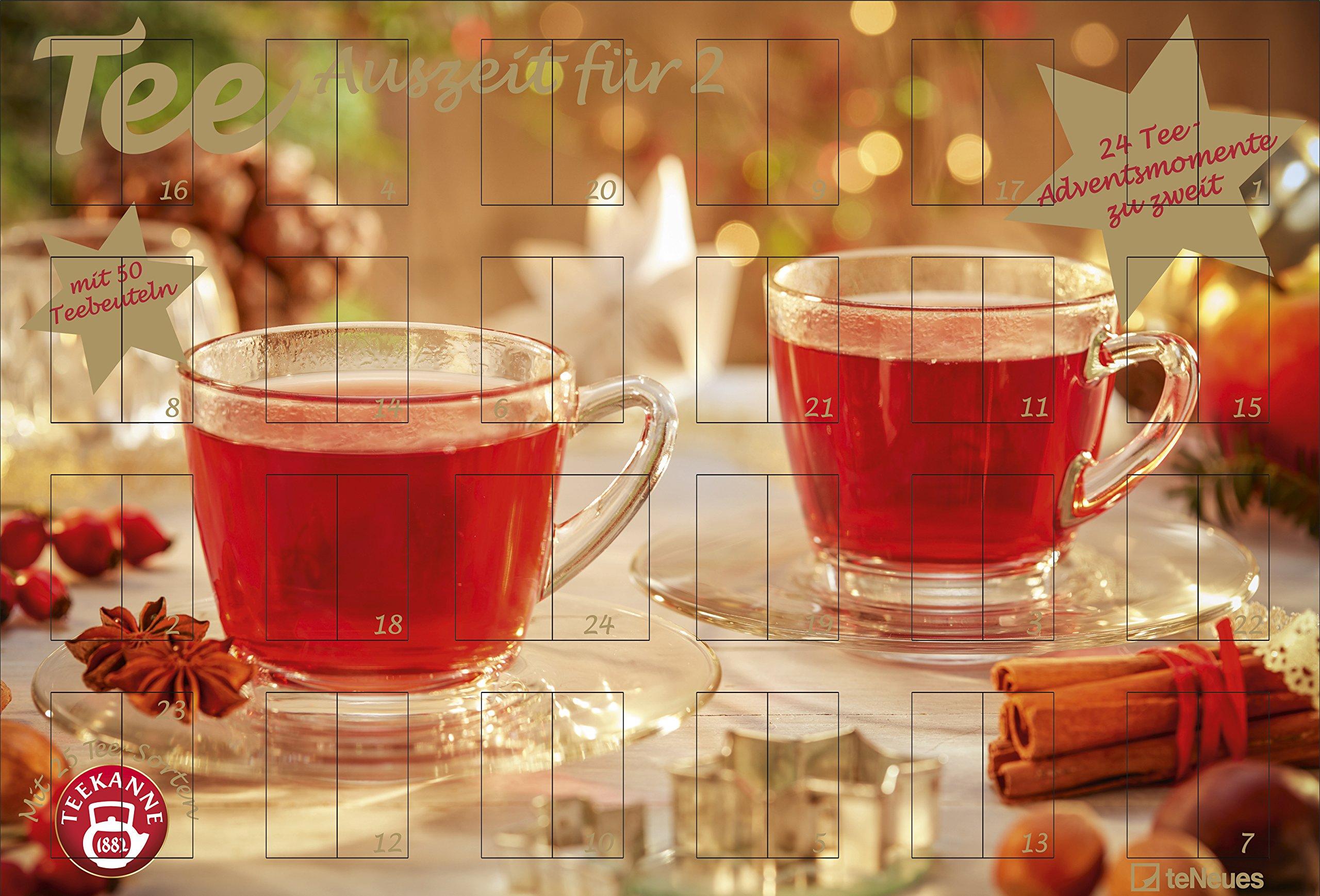 Tee-Adventskalender für Zwei 2018 - Adventskalender, Teekalender, Foodkalender, Weihnachtskalender - 56 x 38,2 Kalender – Adventskalender, 30. September 2018 B077ZCVZ4J Advent 2018 Advent 2019 Adventskalender 2018