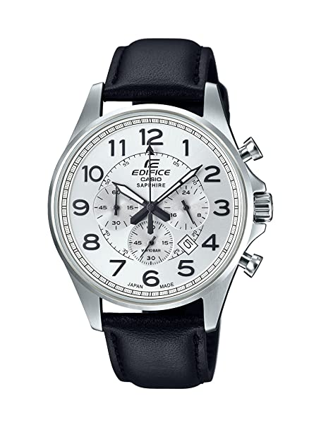 Casio Edifice Analog White Dial Men's Watch - EFB-508JL-7ADR (EX330) Men's Watches at amazon