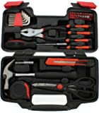 ABN 39 Piece General Household Hand Tool Kit Starter Set with Plastic Toolbox Storage Case