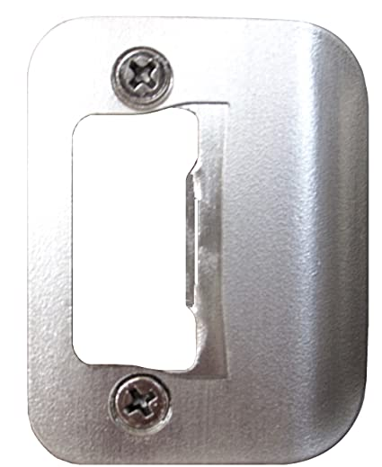 Charmant Gator Door Latch Restorer   Strike Plate (Satin Nickel)