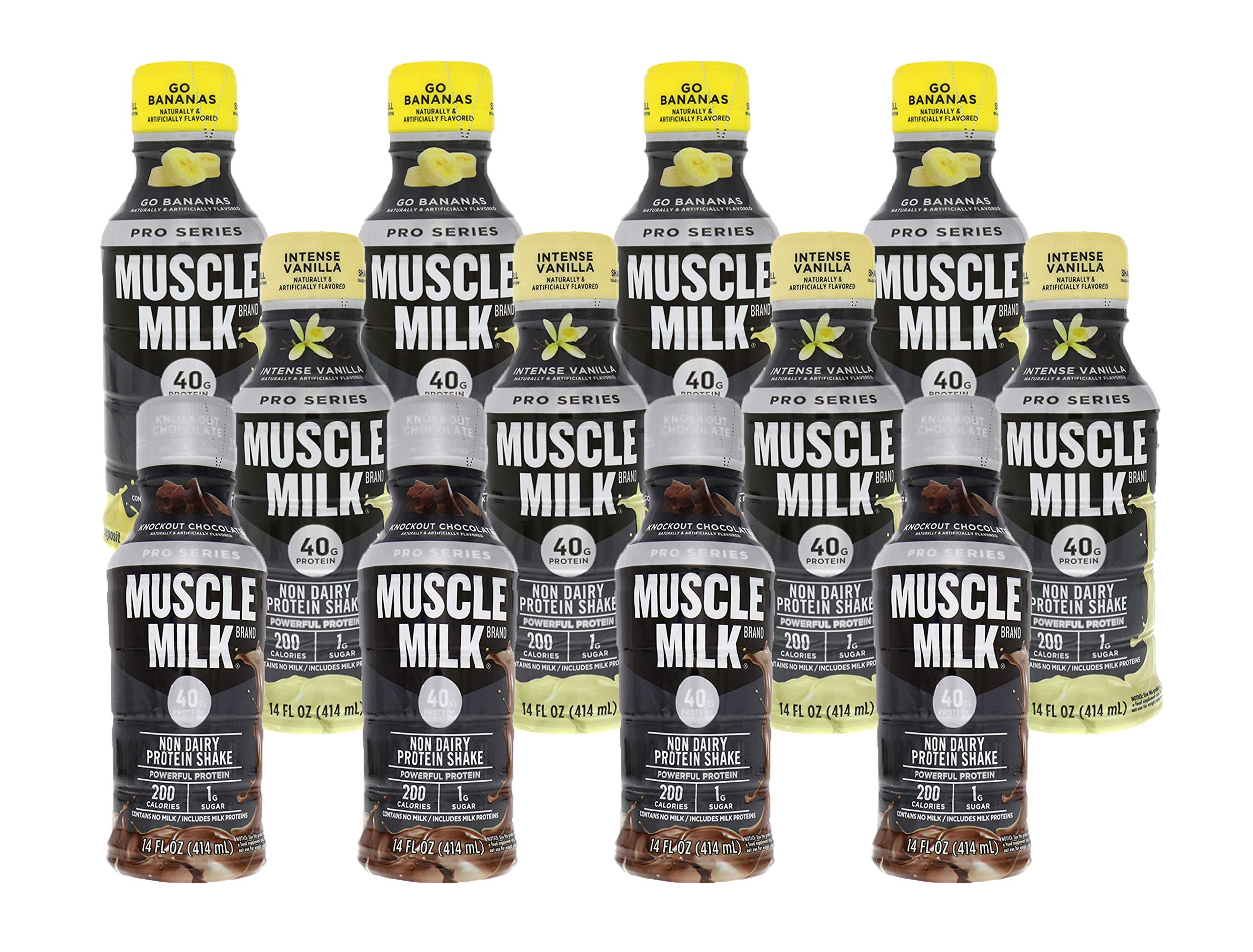 CytoSport Muscle Milk Pro Series 40 RTD Variety Pack 12-14 oz Bottles