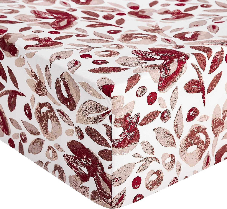 acquerello rosso Lenzuolo con angoli in microfibra di prima qualit/à rumba red Basics 180 x 200 x 30 cm
