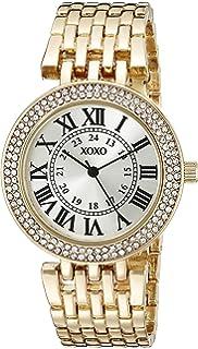 XOXO Womens XO265 Analog Display Analog Quartz Gold-Tone Watch