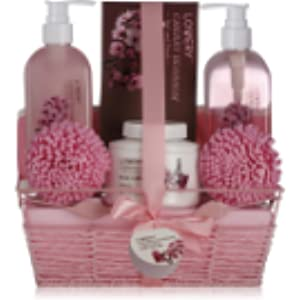 Amazon com : Home Spa Gift Basket, Luxurious 8 Piece Bath
