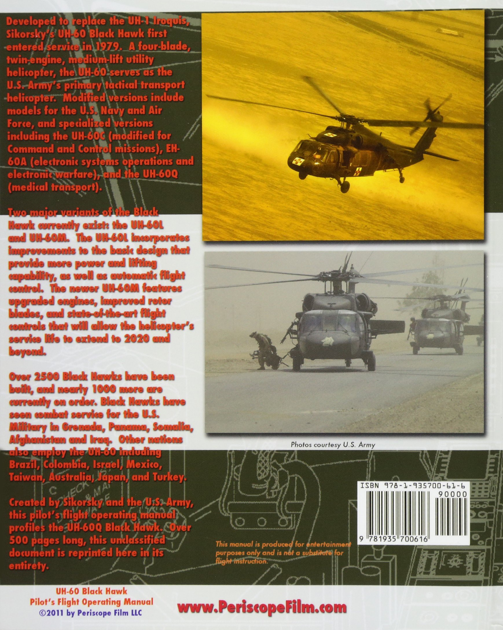 UH-60 Black Hawk Pilot's Flight Operating Manual: Department of the Army:  9781935700616: Amazon.com: Books
