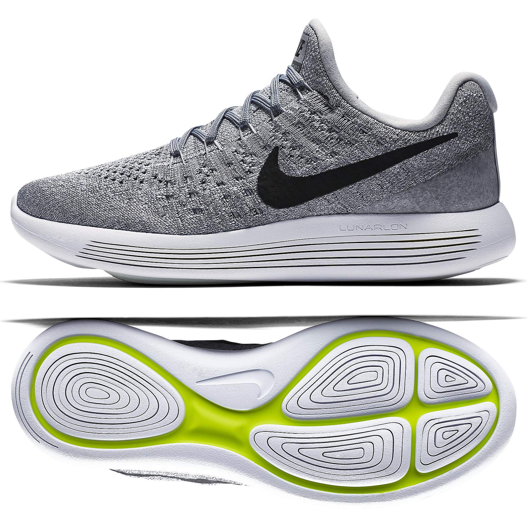 the latest c8169 7ca6f Nike Womens Lunarepic Low Flyknit 2 Wolf Grey/Black/Cool Grey Running Shoe  7.5 Women US