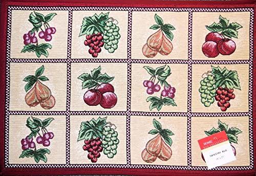 NG Mixed Fruit Tapestry Rectangle Kitchen Rug 18