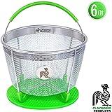 Instant Pot Accessories Insert 6 Quart vegetable Steamer Basket (3qt, 6qt, 8qt), Fits InstaPot Pressure Cooker, IP Insta Pot Ultra Duo Egg Basket, Stainless Metal Strainer Rack, Veggie Accessory