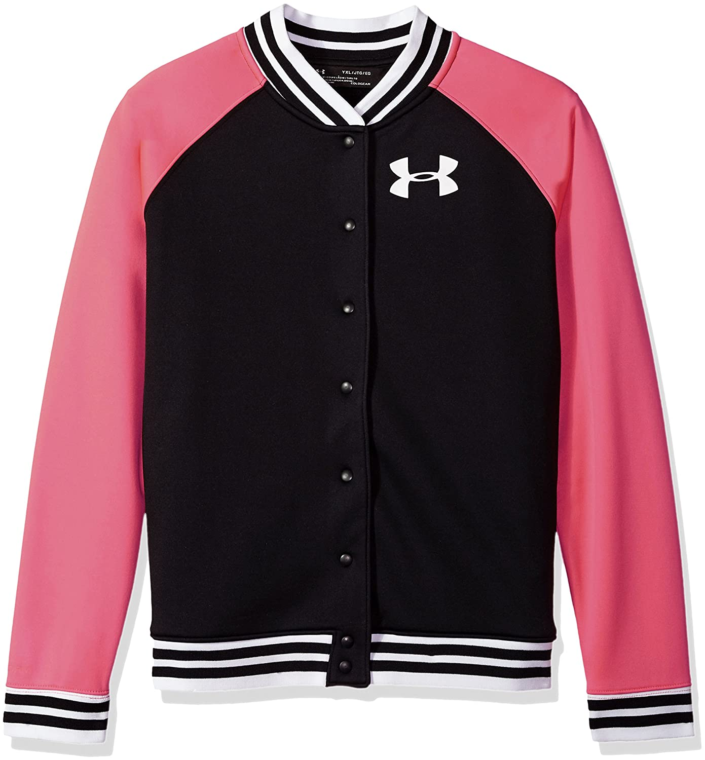 Under Armour Girls' Armour Fleece Graphic Bomber Under Armour Apparel 1298862