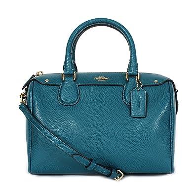 Coach F36624 Crossgrain Leather Mini Bennett Satchel Bag Atlantic ... 8ff573ab8aafb