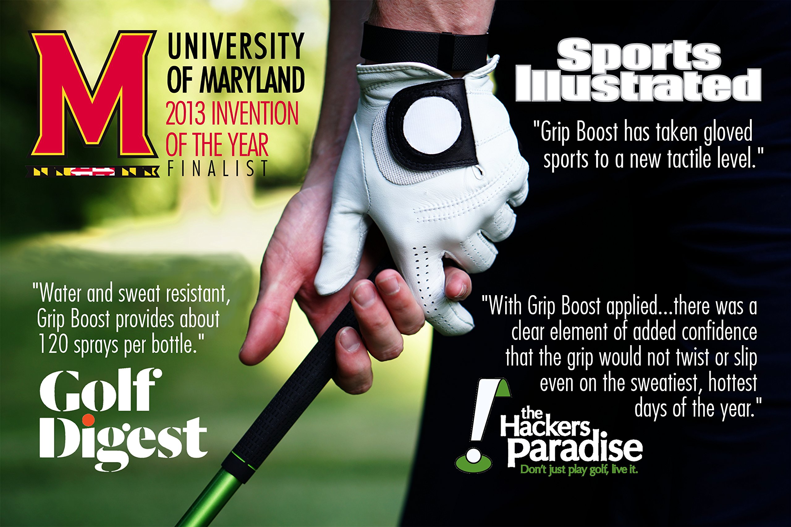 Grip Boost Sweat Proof Grip Enhancing GB Golf Spray 2oz. by Grip Boost (Image #4)