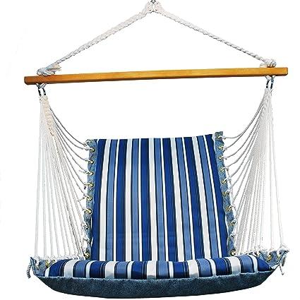 Genial Algoma 1500 135142 Hanging Soft Cushion Chair, Palm Stripe Blue
