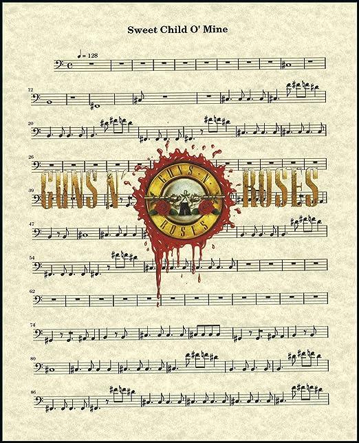 Graphic Art Poster The amazing Slash of Guns N/' Roses Wall Art