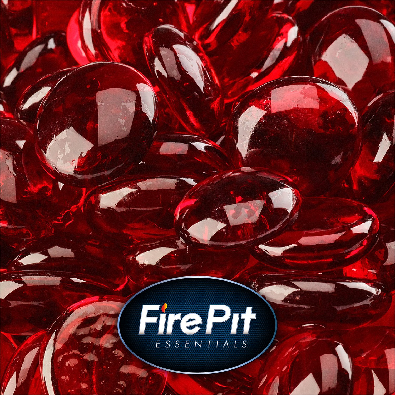 1/2 Fire Glass Beads Indoor Outdoor Fire Pits Fireplace 10 Pounds (Ruby) Fire Pit Essentials