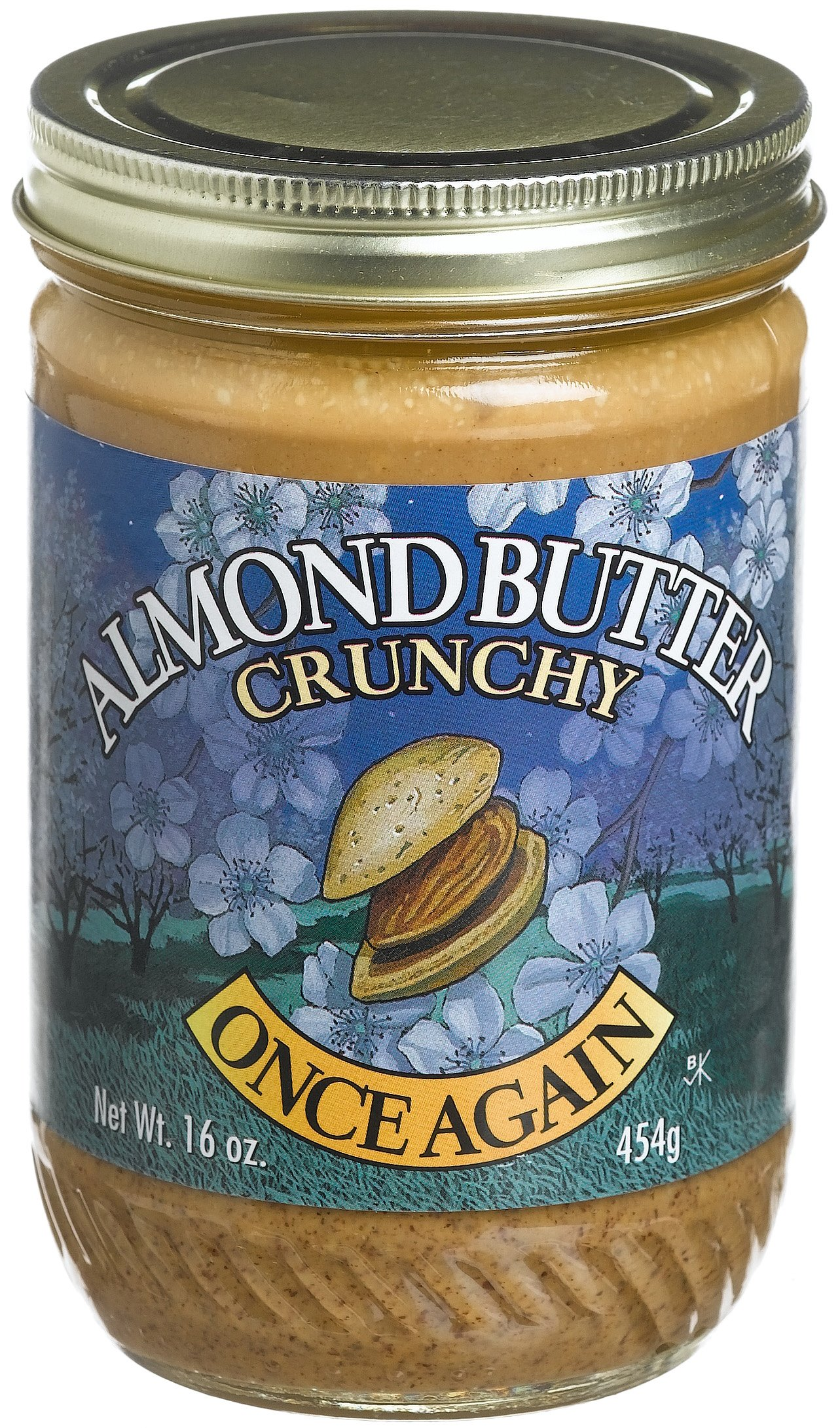 Once Again Natural Crunchy Almond Butter, 16 Ounce -- 12 per case.