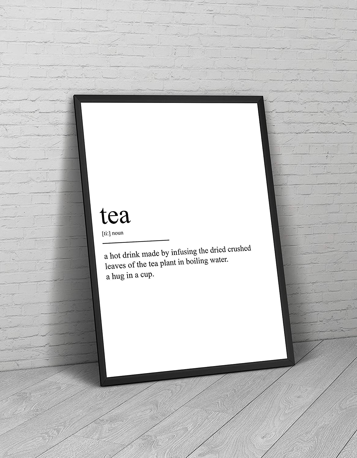 Frame Not Included Tea Definition Print Kitchen Poster Shop Cafe Diner Restaurant Gift Drink Wall Art Quote Typography Home Decor