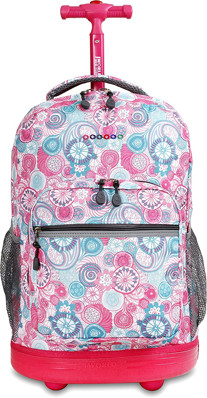 SPACESHIP J WORLD NEW YORK Kids Duo Rolling Backpack with Lunch Box Set One size