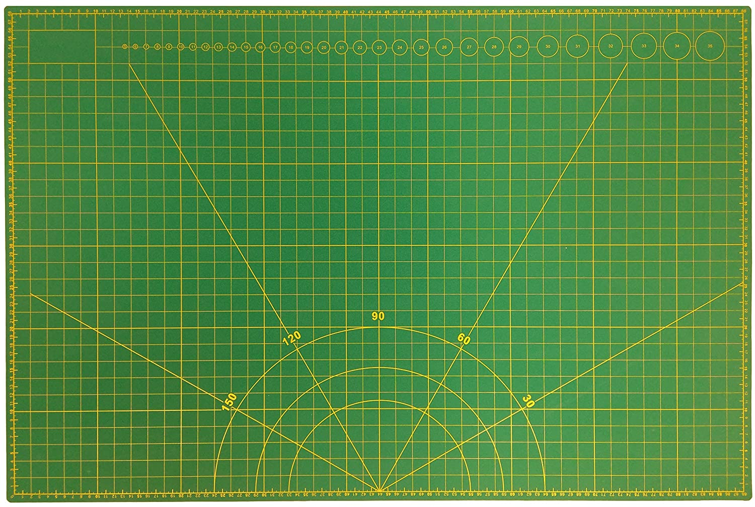 A2 Double Sided Non Slip Self Healing Cutting Mat with Printed Grid Quickdraw