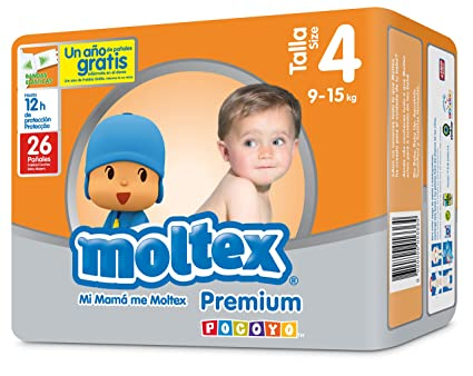 Moltex Premium - Bolsa de Pañales Desechables, 26 Unidades