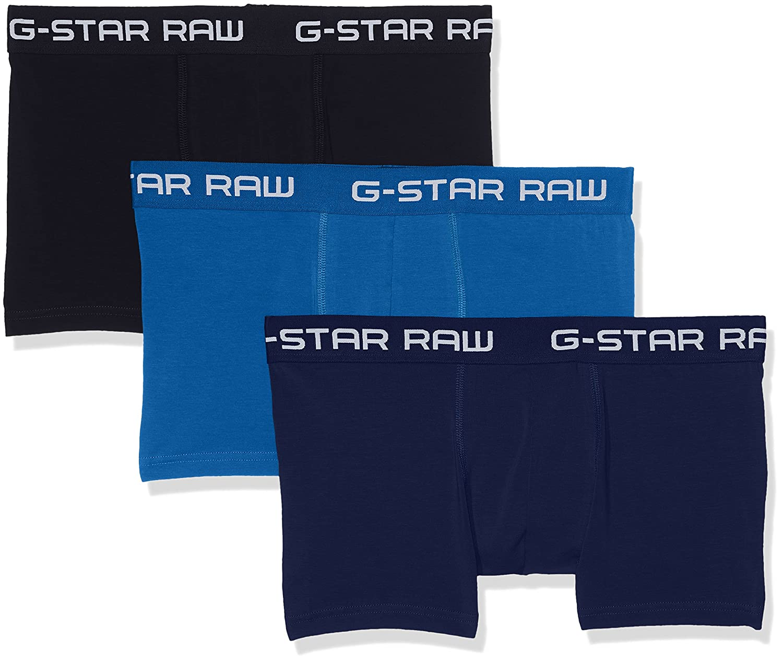 TALLA M. G-STAR RAW Classic Trunk Clr 3 Pack Pantalones Cortos para Hombre