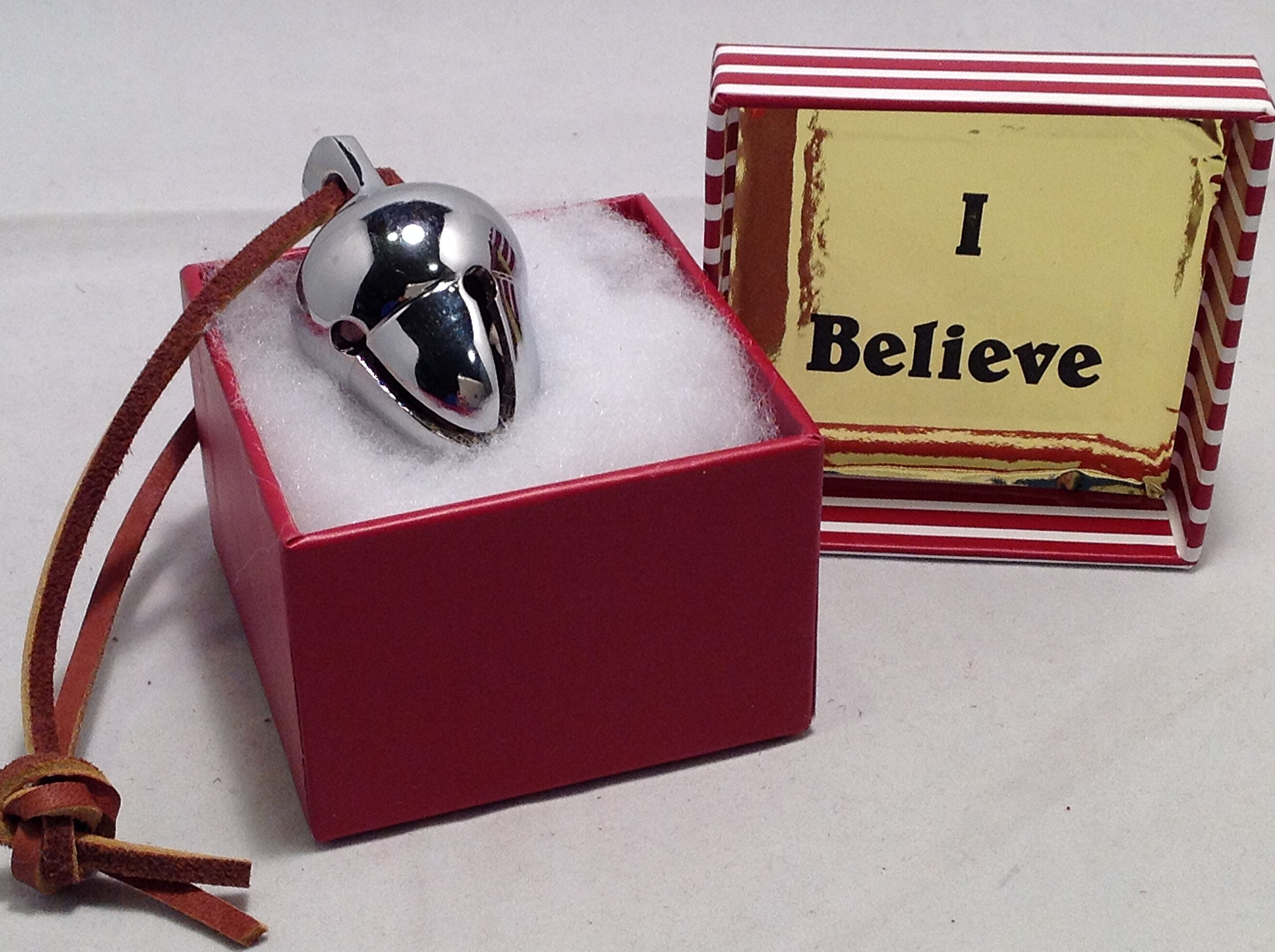Elf Favorite Polar Double Chamber Silver Sleigh Bell From Santa's Sleigh W I Believe Box Express From the Workshop
