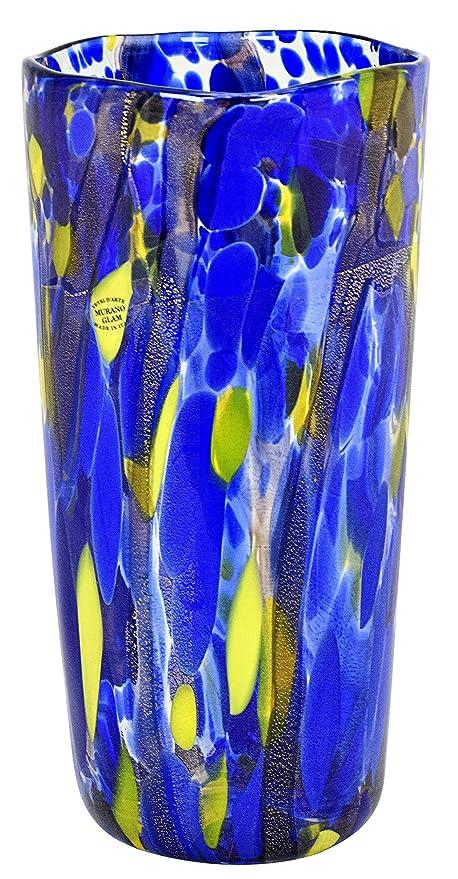 Amazon Murano Glam Vaso Macchie Fili Neri Murano Vase Glass