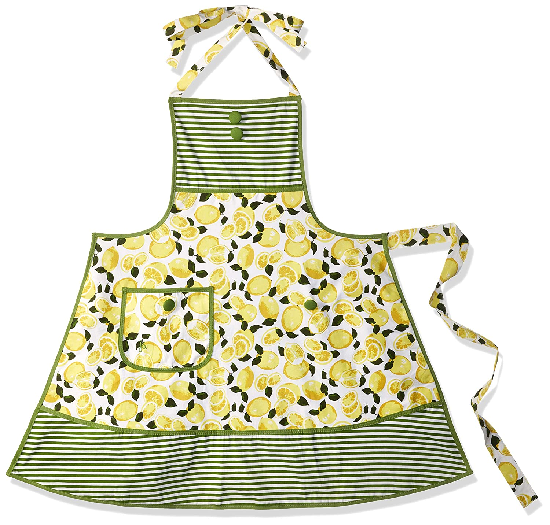 101-JS-66B Jessie Steele Summer Lemons Bib Gigi Apron Inc