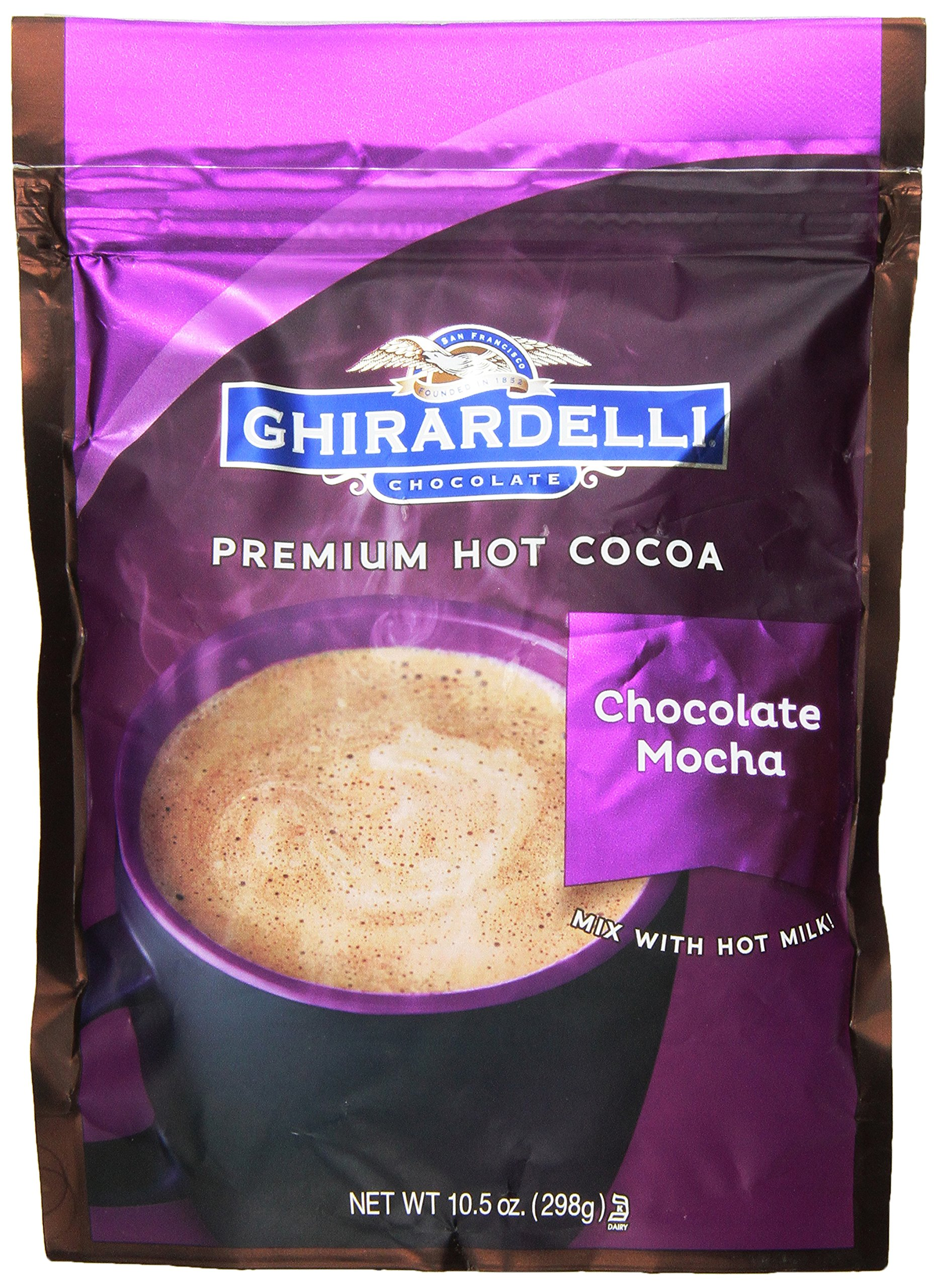 Ghirardelli Hot Chocolate Pouch, Mocha, 10.5 Ounce