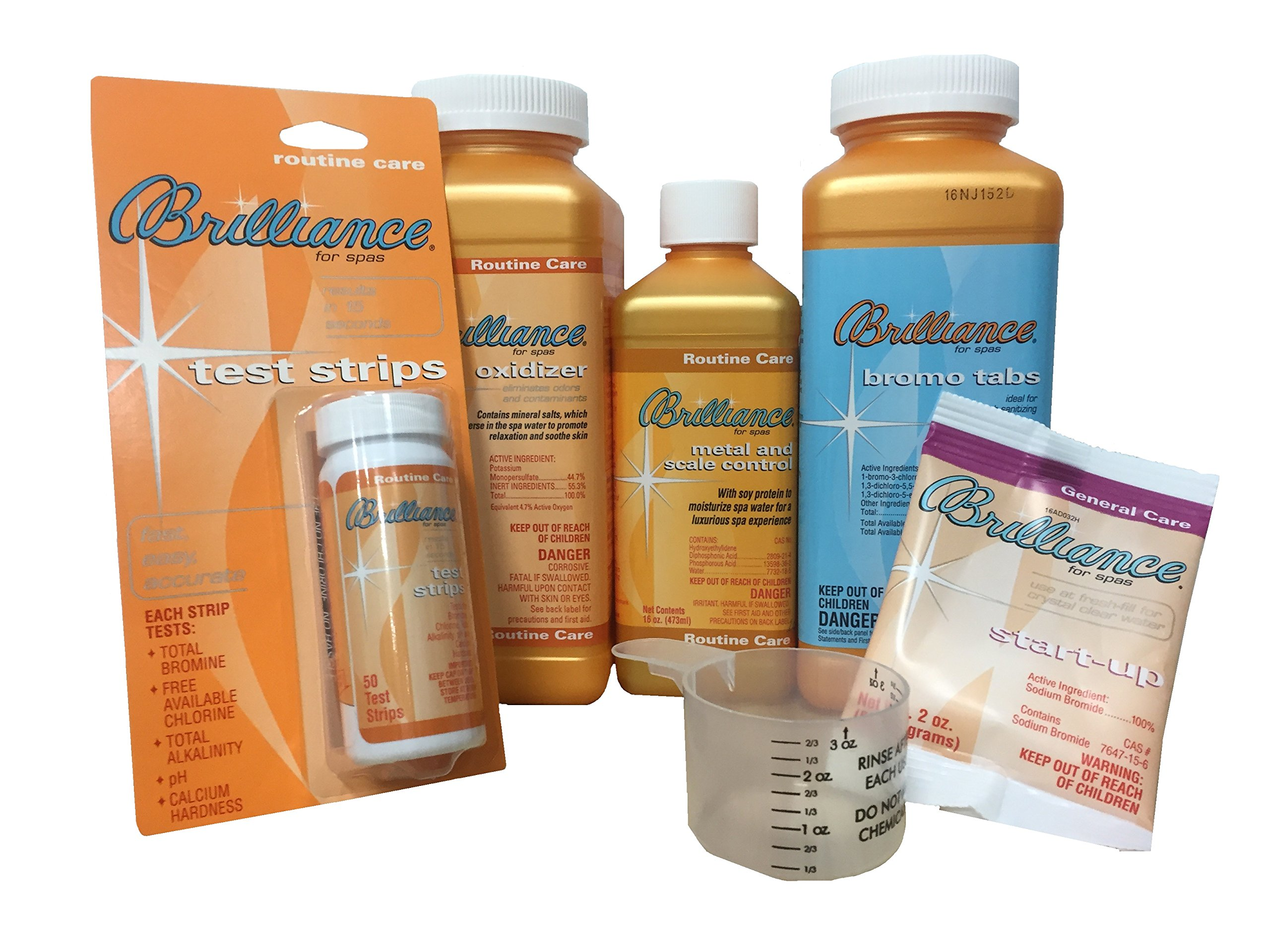 Brilliance for Spas Bromo Tabs Sanitizer Kit with Measuring Cup by Brilliance for Spas