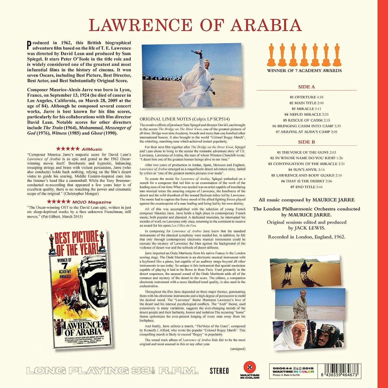 Lawrence Of Arabia Ltd 180g Farbiges Vinyl Vinyl Lp Maurice