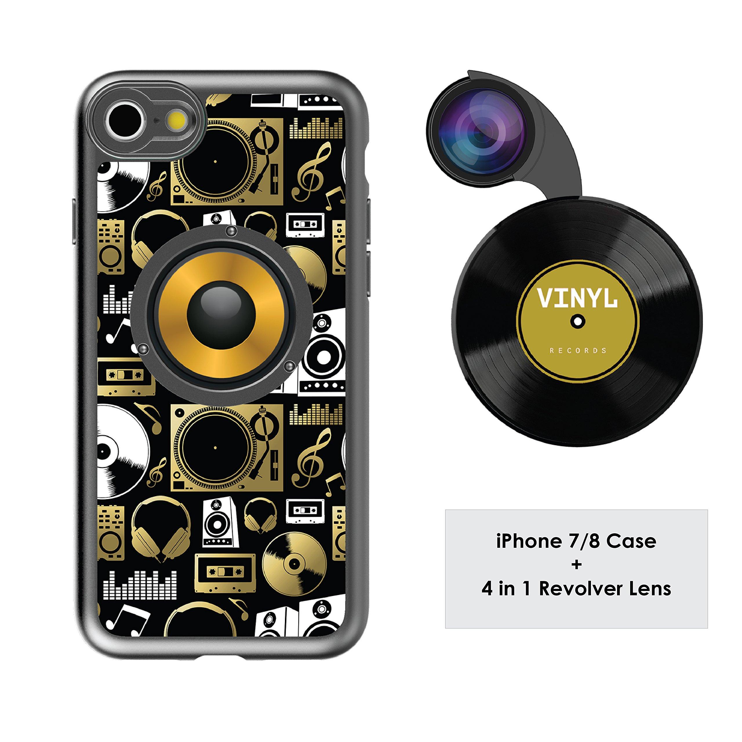 Funda y 4 Lentes Ztylus Revolver p/ iPhone 7/8 - Audio El...