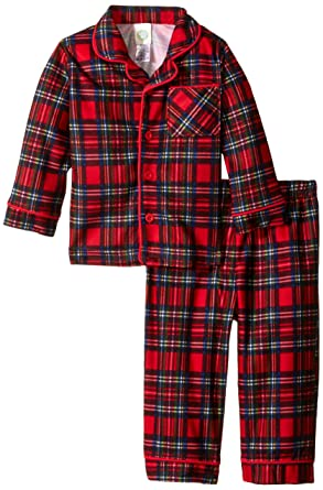 a0a82557c Amazon.com: Little Me Baby Boys' Christmas Plaid 2 Piece Poly Pajamas:  Clothing