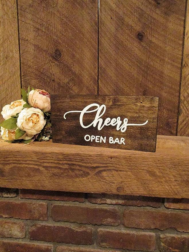 Wedding Bar Sign Cheers sign printable Wedding cheers sign Rustic Wedding sign Open Bar sign Rustic cheers sign