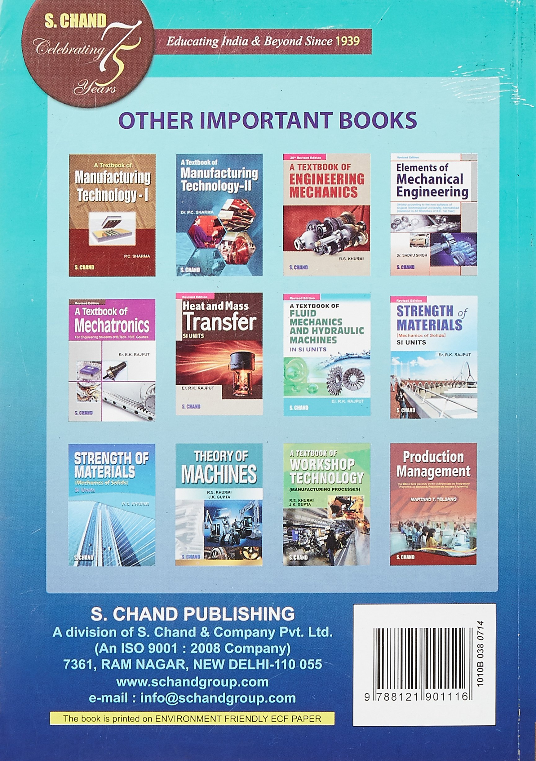 Production Technology by P C Sharma eBook Education t